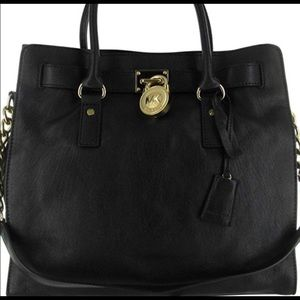 Michael Kors large black Hamilton bag